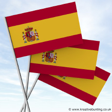 Buy your Spanish Paper Flags on-line with ease