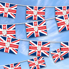 Example of our design for the Queens 90th Bunting