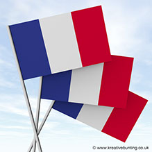 French paper flags for events