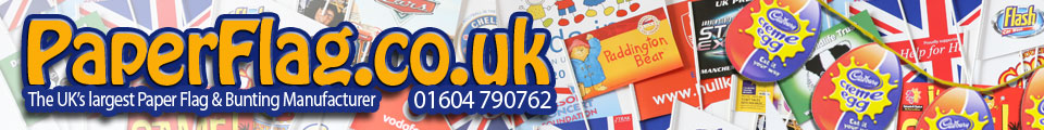 Paper Flag and Bunting Manufacturer based in the UK