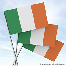 Irish Paper Flags for events