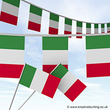 Fun way to promote italian events with our Italian Festival Bunting