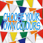 Choose from our many colours - then order your multicoloured bunting on-line with ease
