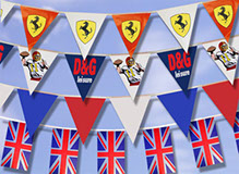 Bunting - a fun and visual medium -great option to advertise your product and brand