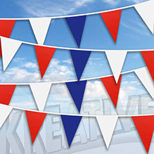 Great Britain celebrates with our Red, White and Blue bunting