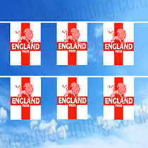 Uniquely Designed by our design department - St. George Lion Bunting - support England in style