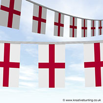 Uniquely Designed by our design department - support England in style -St. George Bunting