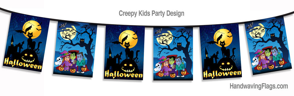 Our Creepy Kids Halloween Bunting will make your party go with abang and a bump