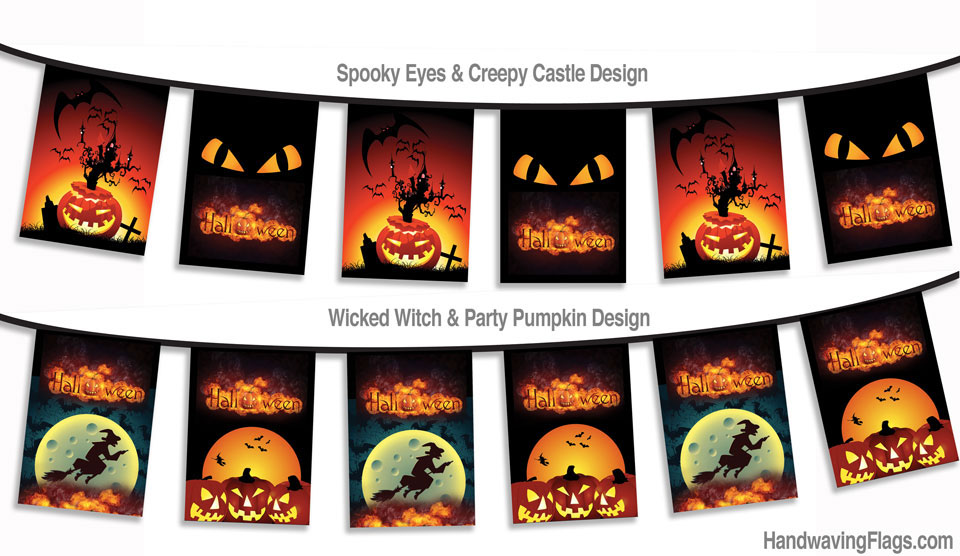 We have a massive range of Halloween buntin and hand flags