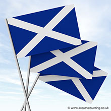 Scottish Paper Flags for events