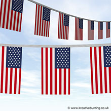 Celebrate inependance day with our fum USA bunting
